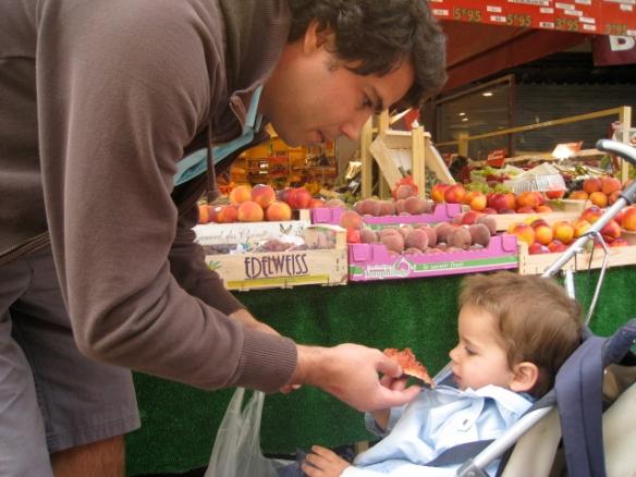 Mercado na Place du Monge, Paris, Agosto de 2008
