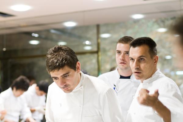 Chef Ferran Adria, Chef de Cuisine Oriol Castro, and Sommelier D